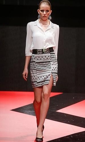 Modelo desfila look da Pura Emoção para o Inverno 2013 durante o Mega Polo Moda (26/02/2013)