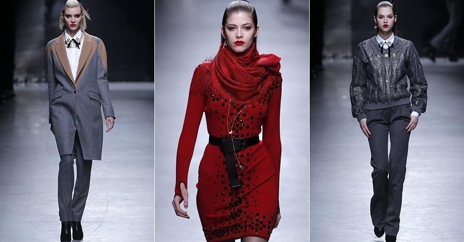 Modelos apresentam looks de Alexis Mabille para o Inverno 2013 durante a semana de moda de Paris (27/02/2013)