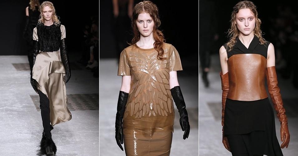 Modelos apresentam looks de Peachoo+Krejberg para o Inverno 2013 durante a semana de moda de Paris (27/02/2013)