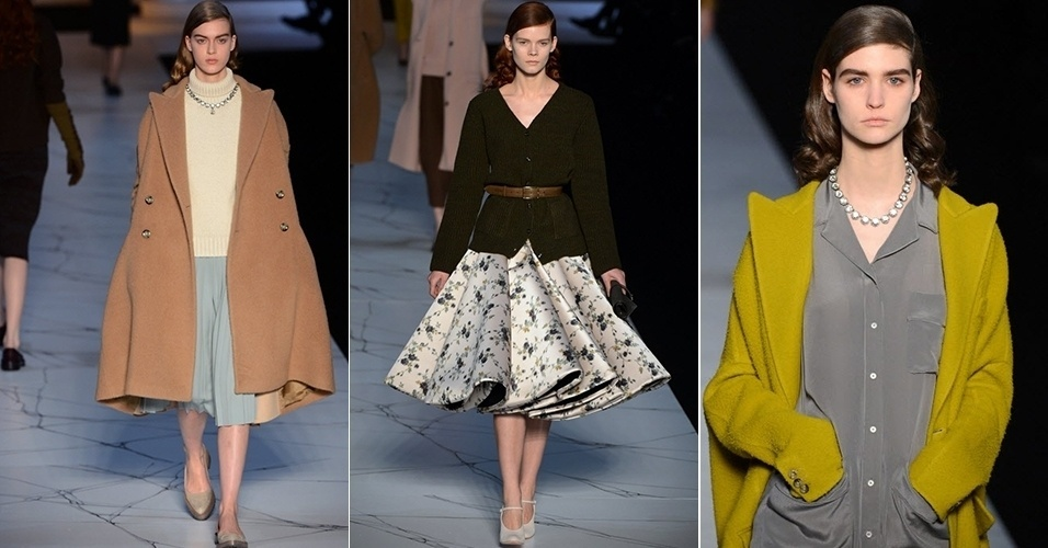 Modelos apresentam looks de Rochas para o Inverno 2013 durante a semana de moda de Paris (27/02/2013)