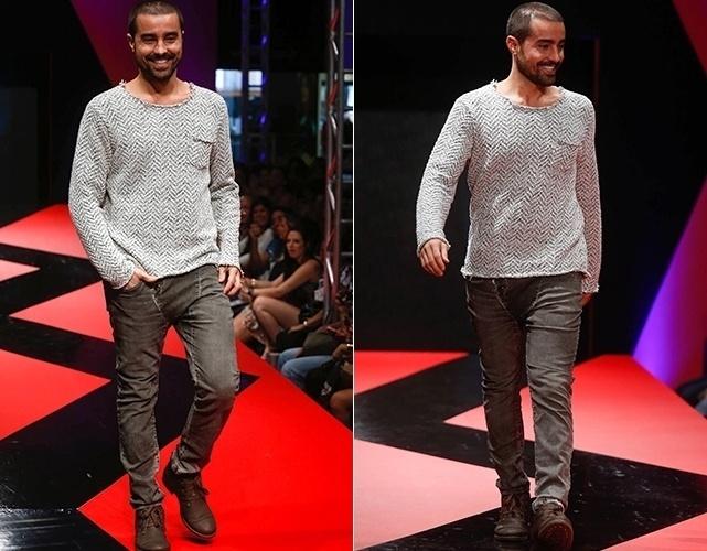 Ricardo Pereira desfila durante o Mega Polo Moda Inverno 2013 (27/02/2013)