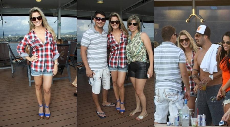 28.fev.2013 - Andressa Suíta, namorada do cantor Gusttavo Lima, compareceu ao cruzeiro