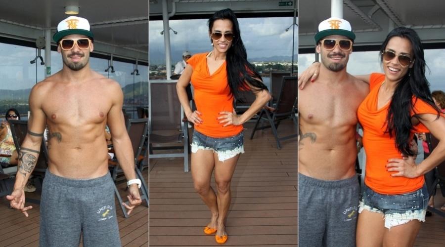 28.fev.2013 - Os ex-BBB's Yuri e Kelly estiveram em no cruzeiro