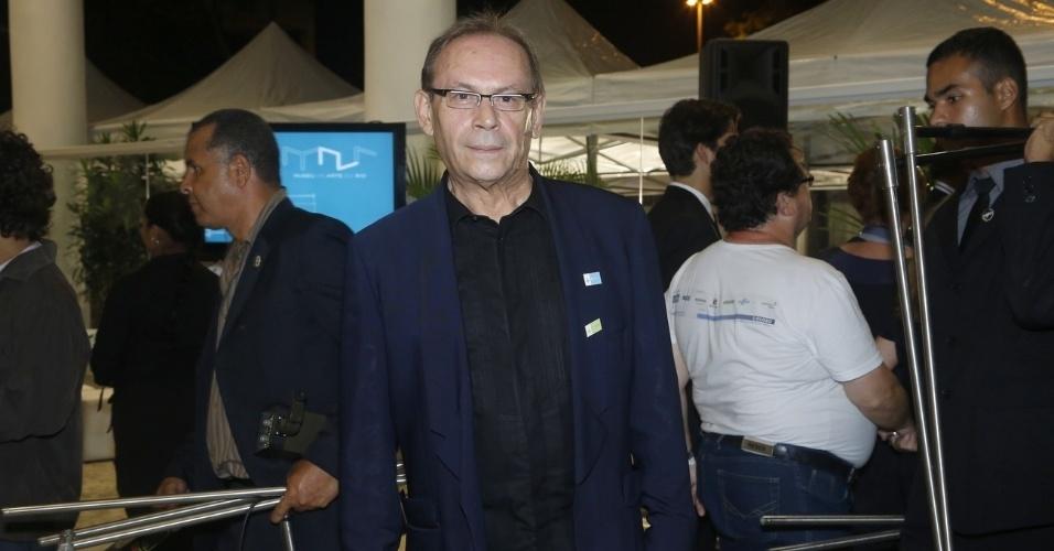 1/3/2013 - José Wilker na cerimônia de inauguração do Museu de Arte do Rio (MAR), na Praça Mauá, no centro do Rio de Janeiro