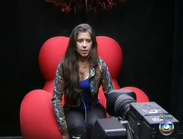 1º.mar.2013 - Andressa votou em Kamilla porque achou ela uma incógnita e tem pouca afinidade com a sister