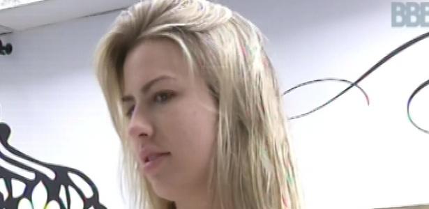 1°.março.2013 - Fernanda diz que está seca para ganhar a liderança.