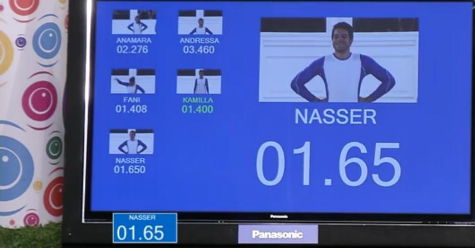 28.fev.2013 - Nasser realizou a prova em 01.65 segundo