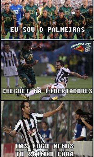 Corneta FC: Palmeiras foi ali na Libertadores, mas volta já