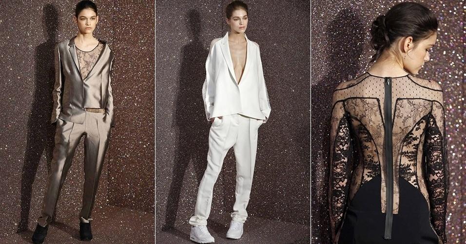 Modelos apresentam looks de Anne Valérie Hash para o Inverno 2013 durante a semana de moda de Paris (01/03/2013)