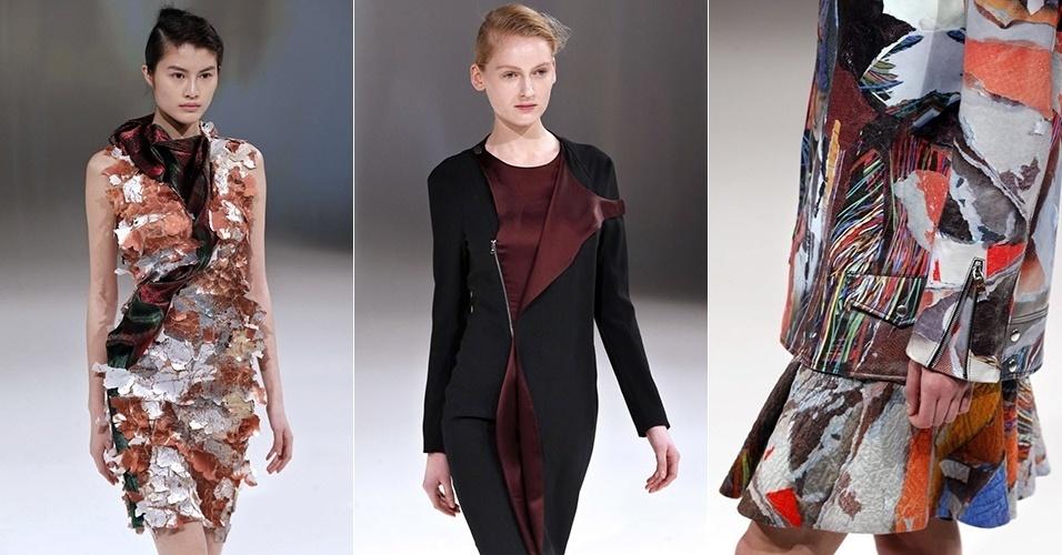 Modelos apresentam looks de Chalayan para o Inverno 2013 durante a semana de moda de Paris (01/03/2013)