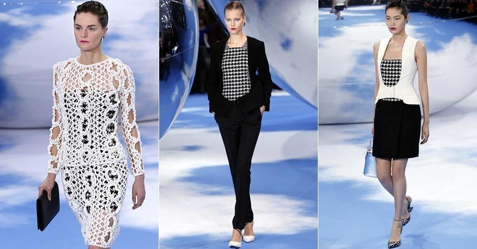 Modelos apresentam looks de Christian Dior para o Inverno 2013 durante a semana de moda de Paris (01/03/2013)