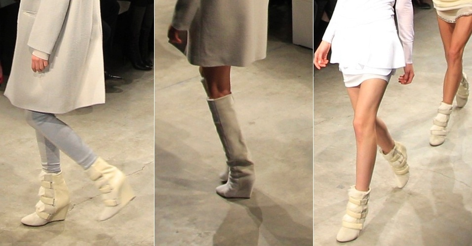 Modelos apresentam looks de Isabel Marant para o Inverno 2013 durante a semana de moda de Paris (01/03/2013)