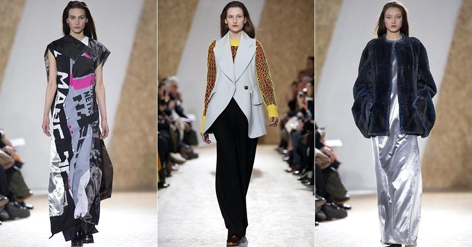 Modelos apresentam looks de Maison Martin Margiela para o Inverno 2013 durante a semana de moda de Paris (01/03/2013)