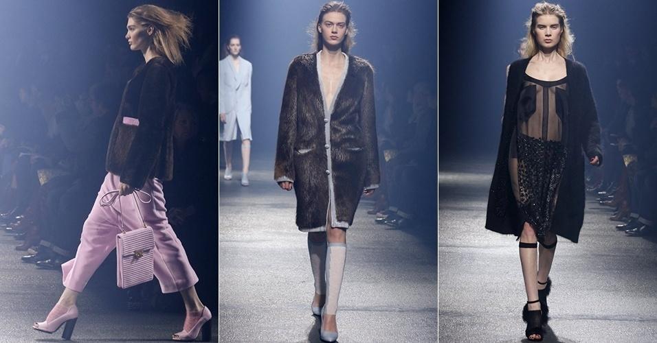 Modelos apresentam looks de Sonia Rykiel para o Inverno 2013 durante a semana de moda de Paris (01/03/2013)