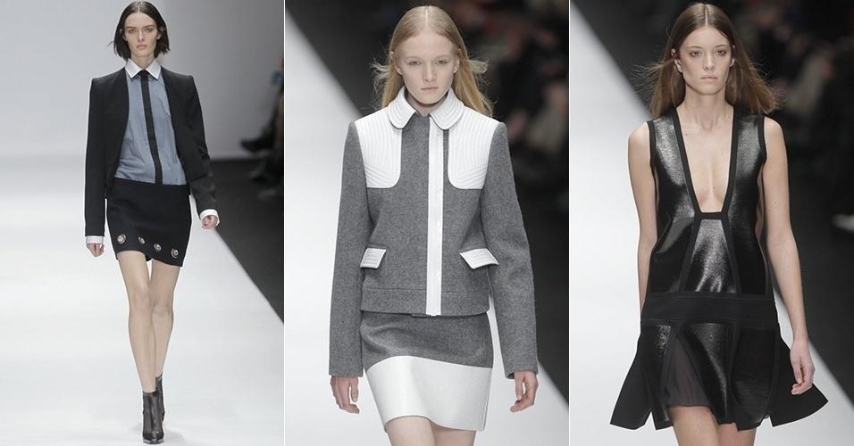Modelos apresentam looks de Vanessa Bruno para o Inverno 2013 durante a semana de moda de Paris (01/03/2013)