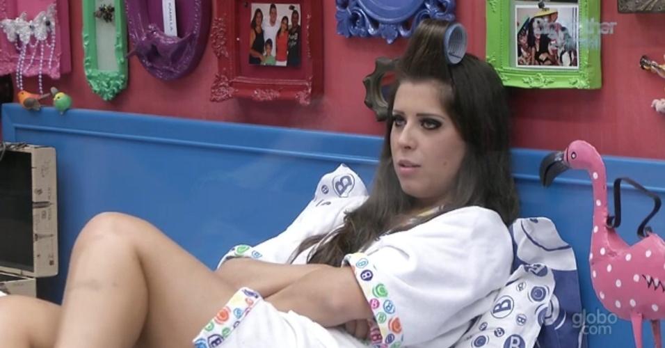 2.mar.2013 - Andressa diz que não se arrepende de ter terminado namoro de nove anos dentro do