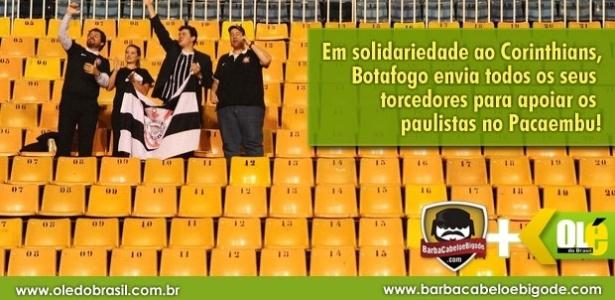 Corneta FC: Botafogo envia torcida inteira para apoiar Corinthians