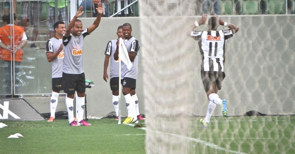 Richarlyson comemora gol marcado na vitória do Atlético-MG sobre o Guarani, por 3 a 1 (3/3/2013)
