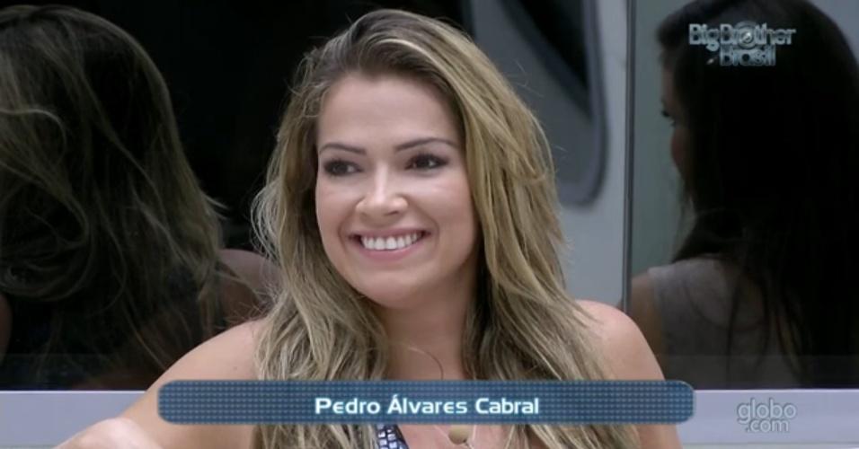 3.mar.2013 - Fani é desafiada por Fernanda na prova do líder, acerta pergunta e elimina mineira
