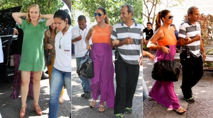 4.mar.2013 - Grvida de cinco meses, Juliana paes gravou participao no programa 