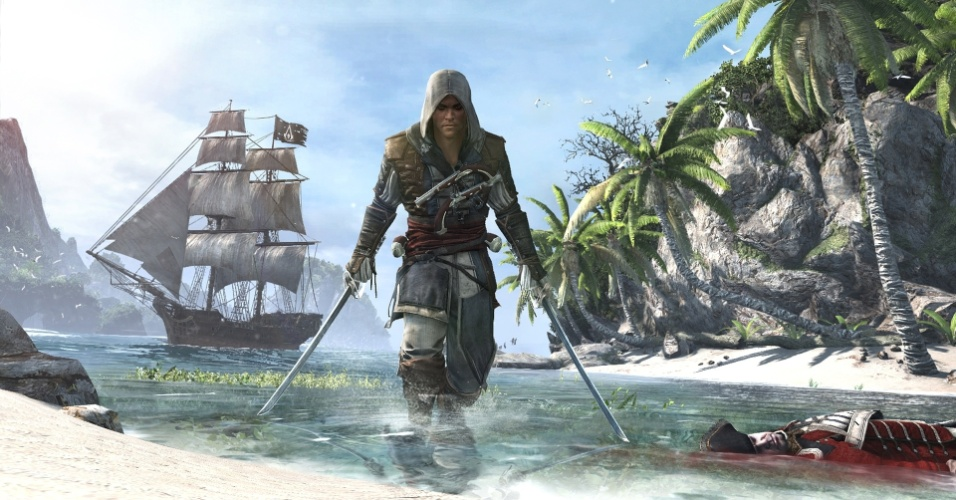 """Assassin's Creed IV: Black Flag"" apresenta o pirata Edward Kenway, avô de Connor, de ""ACIII"""
