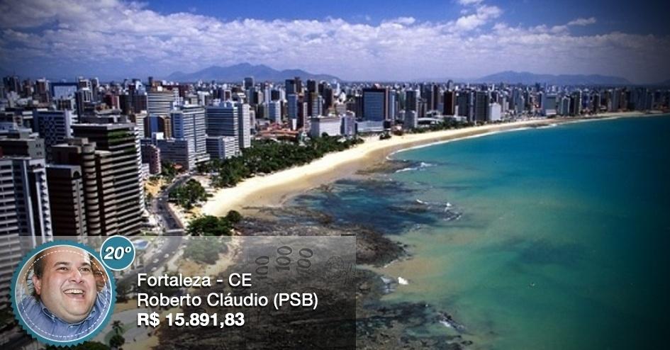 Com salário de R$ 15.891,83, o prefeito de Fortaleza (CE), Roberto Cláudio (PSB), recebe o equivalente ao 20º maior salário entre os prefeitos das 26 capitais