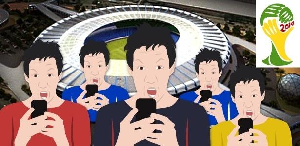 Tecnologia 4G a ser instalada nos estádios não será compatível com celulares de fora do país