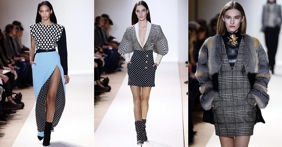 Modelos apresentam looks de Emanuel Ungaro para o Inverno 2013 durante a semana de moda de Paris (04/03/2013)