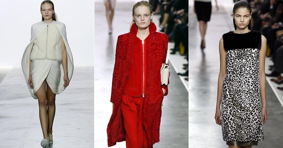 Modelos apresentam looks de Giambattista Valli para o Inverno 2013 durante a semana de moda de Paris (04/03/2013)