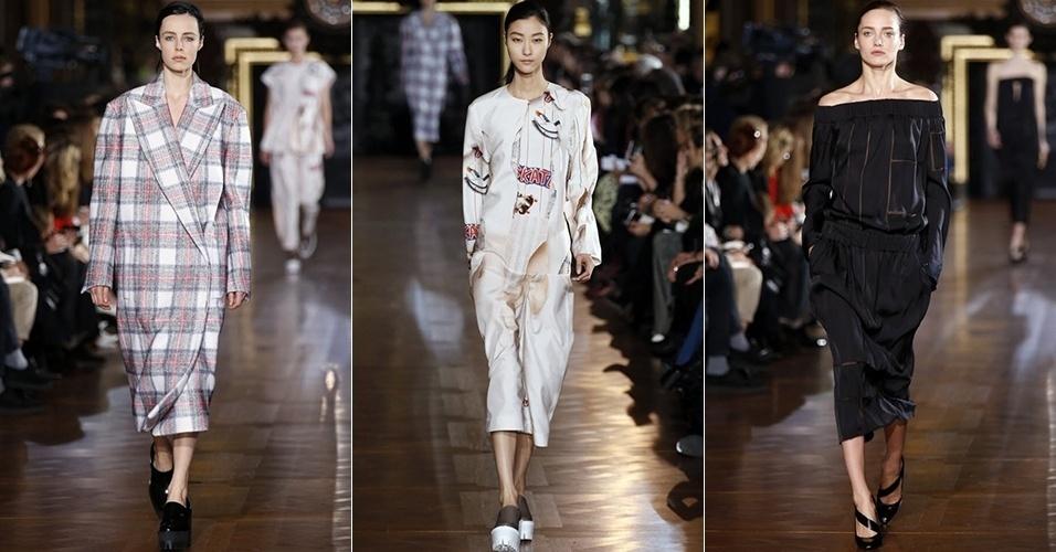 Modelos apresentam looks de Stella McCartney para o Inverno 2013 durante a semana de moda de Paris (04/03/2013)