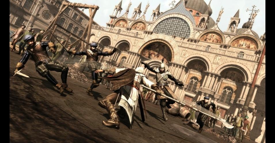 """Sequência de 2009, """"Assassin's Creed II"""" mostrou Ezio, um assassino italiano em missões durante a Renascença."""
