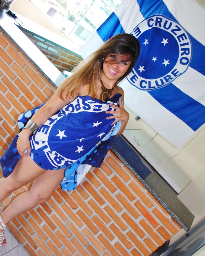 Ana Carolina Silva quer representar o Cruzeiro no Belas da Torcida 2013