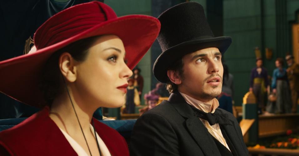 """Mila Kunis e James Franco em cena de """"Oz: Mágico e Poderoso"""", filme de Sam Raimi"""