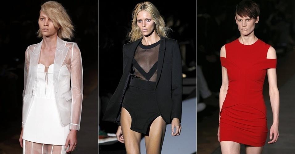 Modelos apresentam looks de Hakaan para o Inverno 2013 durante a semana de moda de Paris (05/03/2013)