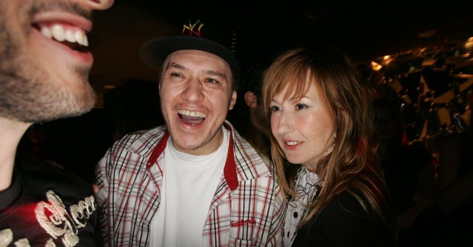 13.set.2007 - Chorão e a mulher, a estilista Graziela Gonçalves, durante festa de aniversário de Marcos Mion em São Paulo. O casal se separou no final de 2012