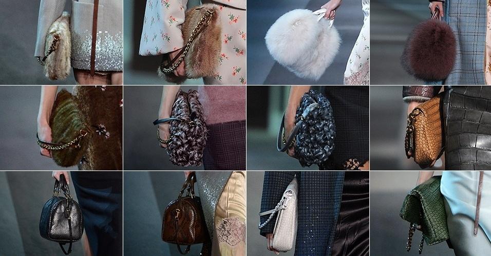 Bolsas da Louis Vuitton para o Inverno 2013 desfiladas durante a semana de moda de Paris (06/03/2013)