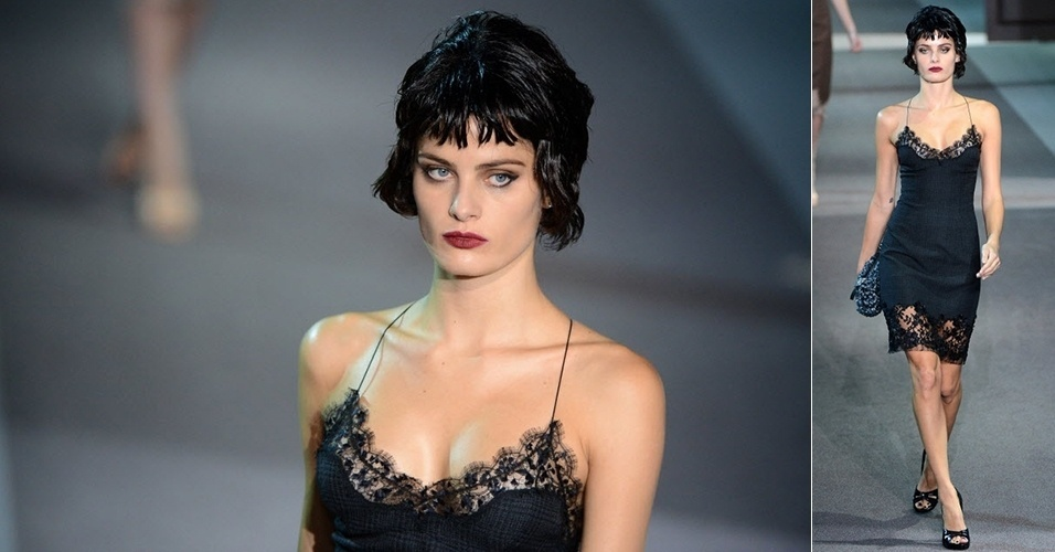 Isabeli Fontana apresenta look da Louis Vuitton para o Inverno 2013 durante a semana de moda de Paris (06/03/2013)