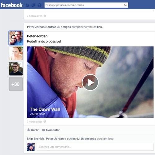As notícias compartilhadas ganharão um destaque lateral, à esquerda. Quando uma história for compartilhada, uma foto miniatura do perfil do usuário vai aparecer no feed.