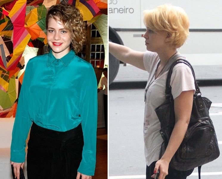 Março: Leandra Leal mudou o visual e exibiu fios bem loiros durante passeio pelo Leblon, no Rio de Janeiro. O último papel da atriz nas telinhas foi a empreguete Rosário, na novela