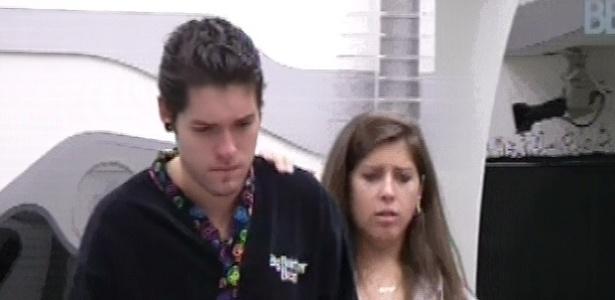 8.mar.2013 - Nasser chora e diz que agora está na reta e Andressa acha que os dois podem ir juntos ao paredão