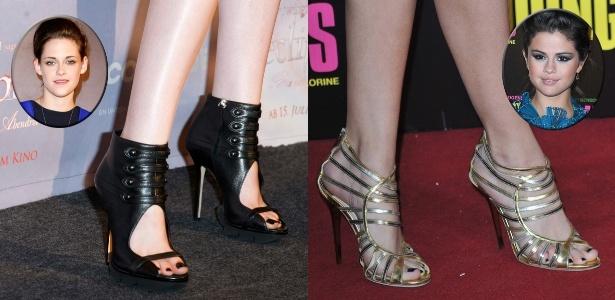 O esmalte preto nos tapetes vermelhos: Kristen Stewart e Selena Gomez