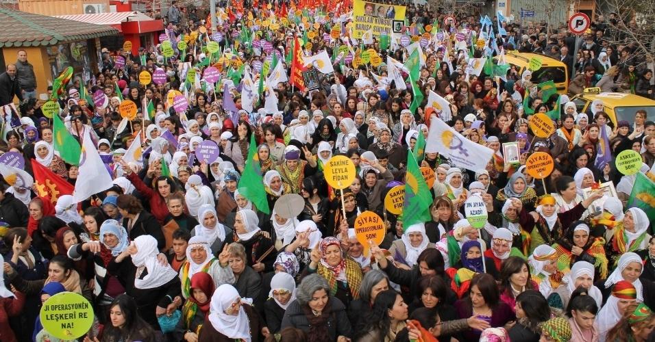 Manifestação na Turquia pelo Dia Internacional da Mulher