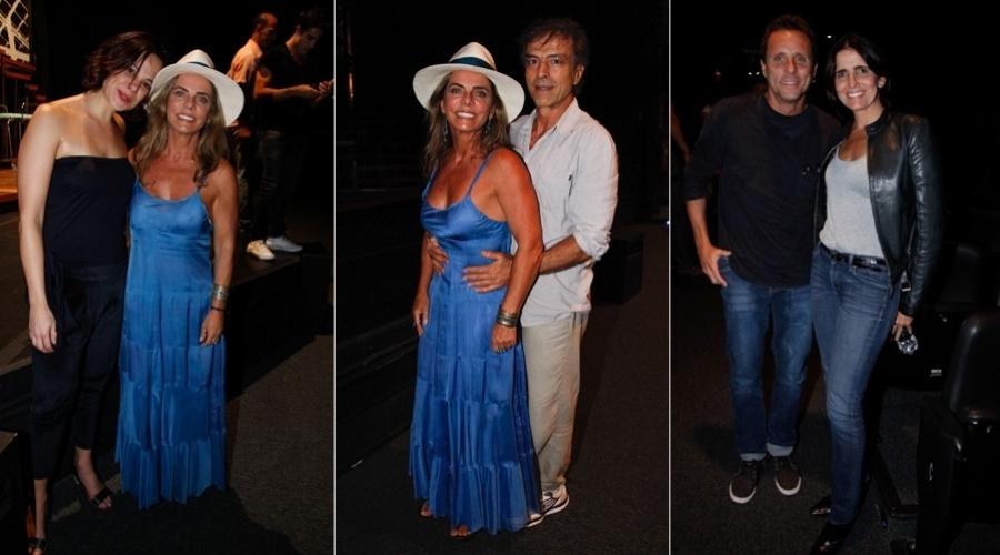 10.mar.2013 - Bruna Lomberdi e Carlos Alberto Ricelli prestigiaram o espetáculo