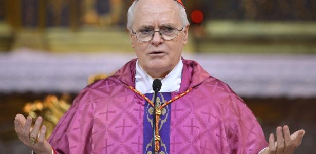 O cardeal brasileiro dom Odilo Scherer conduz missa em Roma
