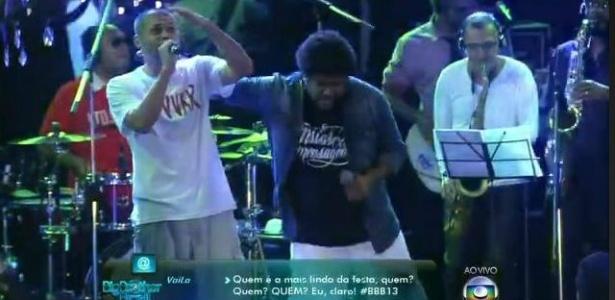 """Rapper critica o """"BBB"""" em show no próprio programa"""