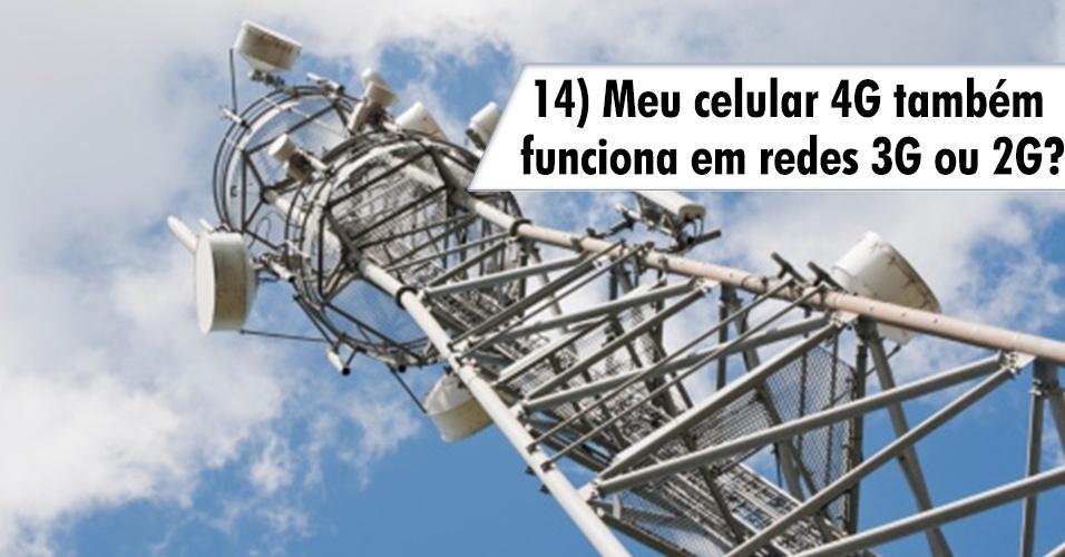 Meu celular 4G também funciona em redes 3G ou 2G?