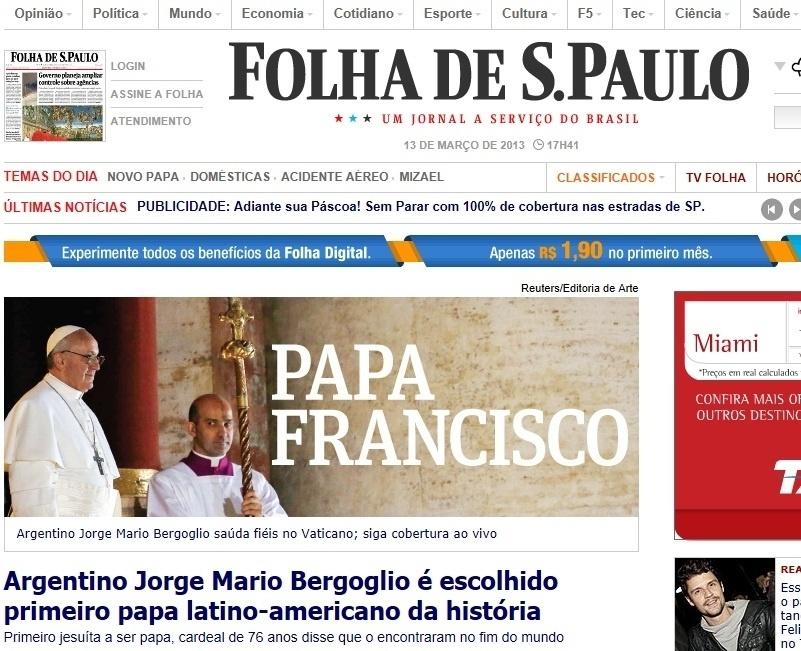 13.mar.2013 - O jornal