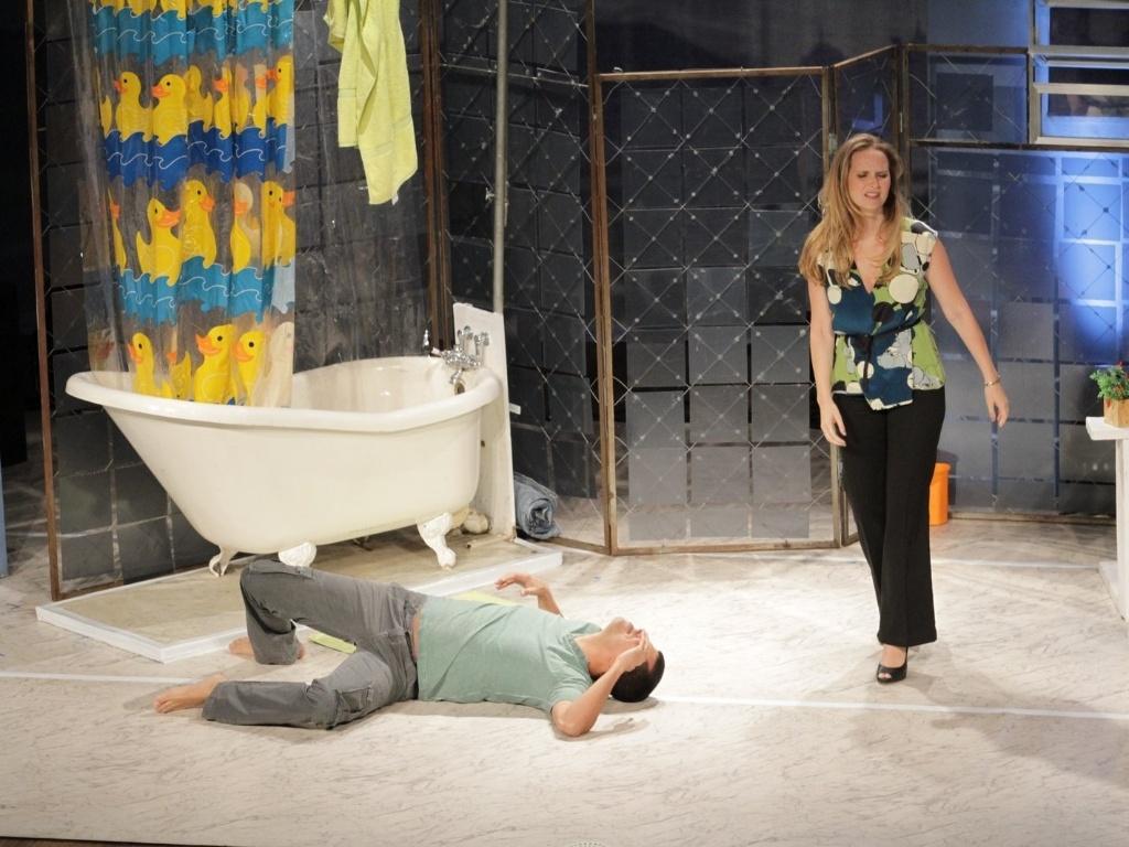 13.mar.2013 - Fernanda Rodrigues e Marcius Melhem apresentaram o espetáculo