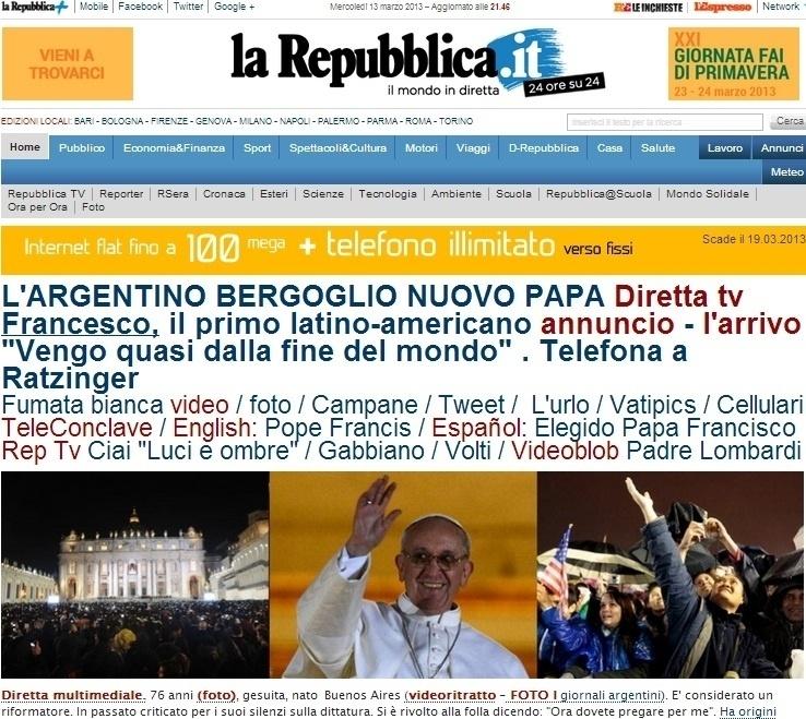 13.mar.2013 - O jornal italiano