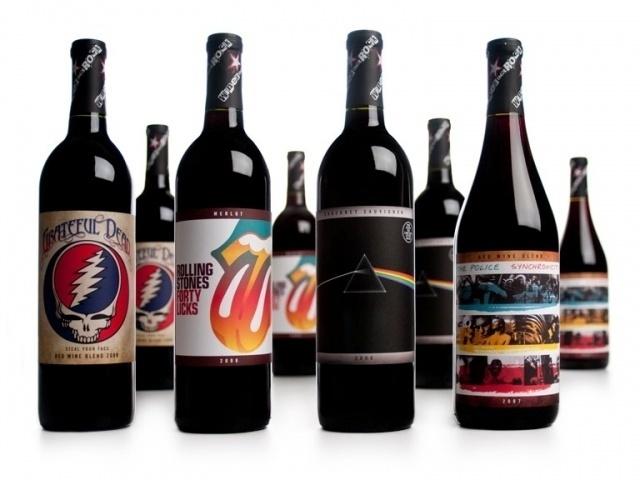 Vinhos das bandas Rolling Stones, Pink Floyd, Grateful Dead e The Police também já circularam pelo mercado de bebidas